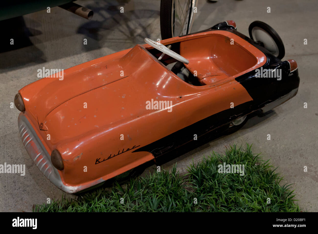 1950s vintage kid's pedal car toy - Stock Image