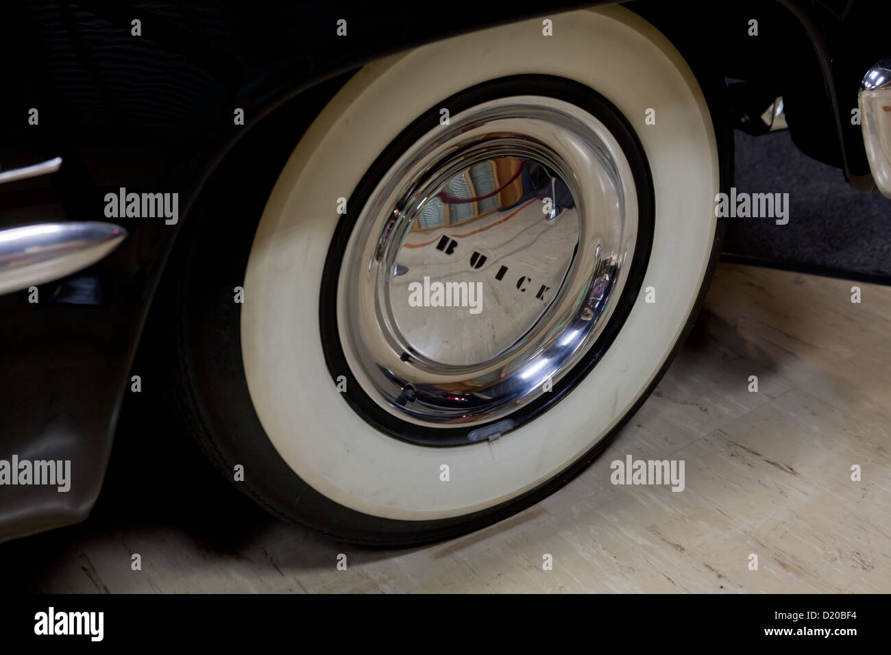Whitewall tire - Stock Image