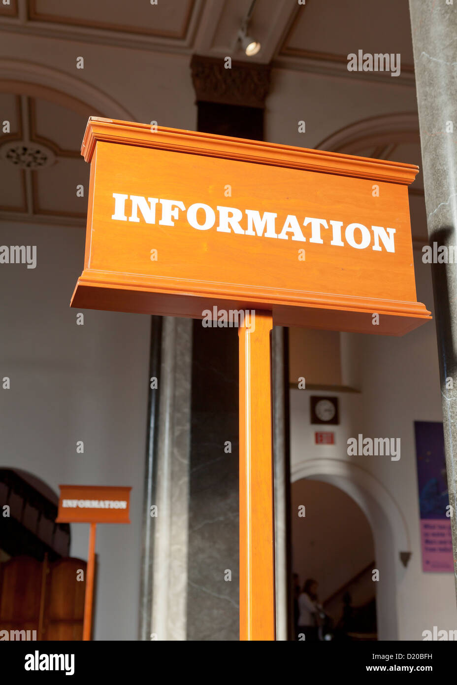 Information desk sign - Stock Image