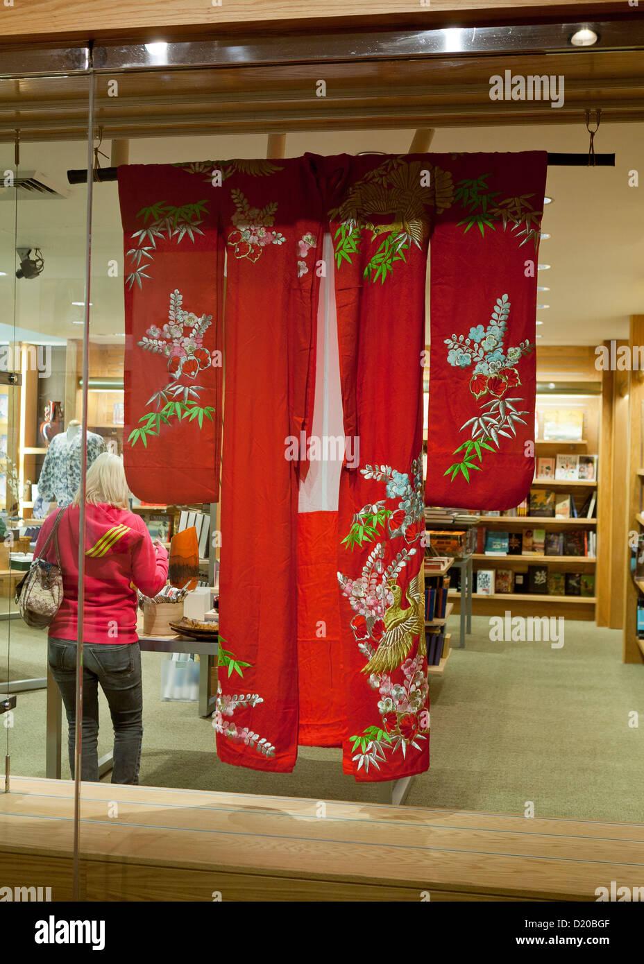 Kimono on sales display - Stock Image