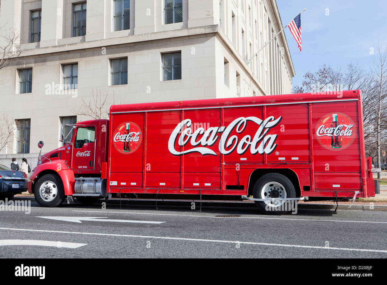 Coca-Cola delivery truck - USA - Stock Image