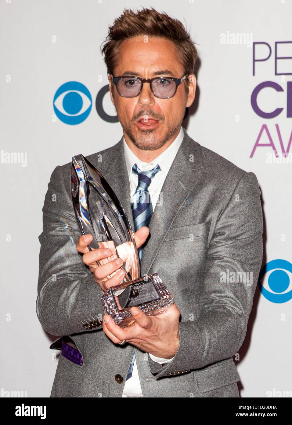 Robert Downey Jr. in the press room for The 39th Annual People's Choice Awards - PRESS ROOM, Nokia Theatre at L.A. Stock Photo