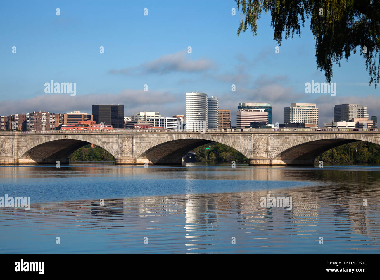 Rosslyn, Virginia and Potomac River during the morning - Stock Image