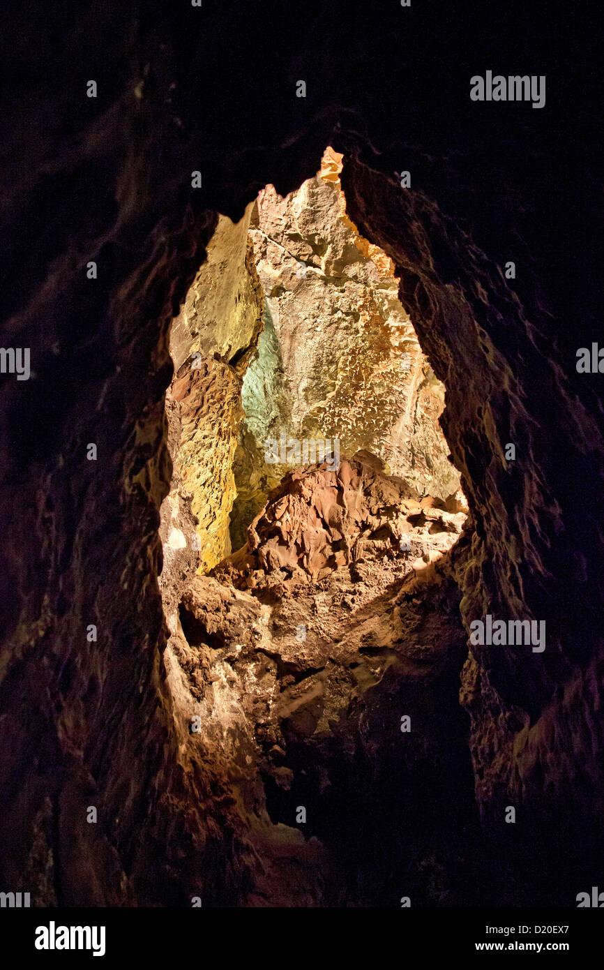 Cave, Cuevas de los Verdes, Lanzarote, Canary Islands, Spain, Europe - Stock Image