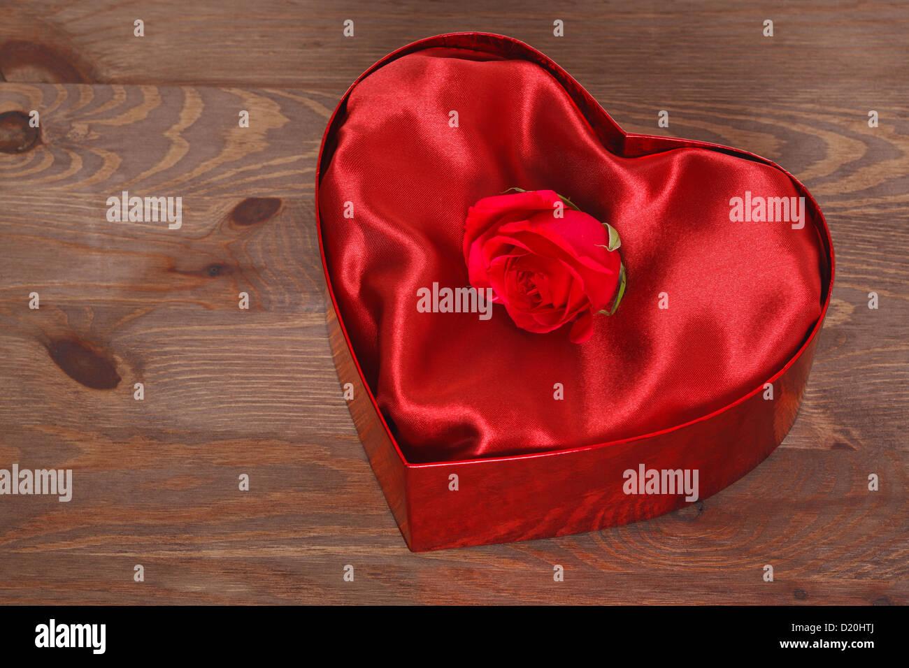 Heart Shaped Wooden Box-Single