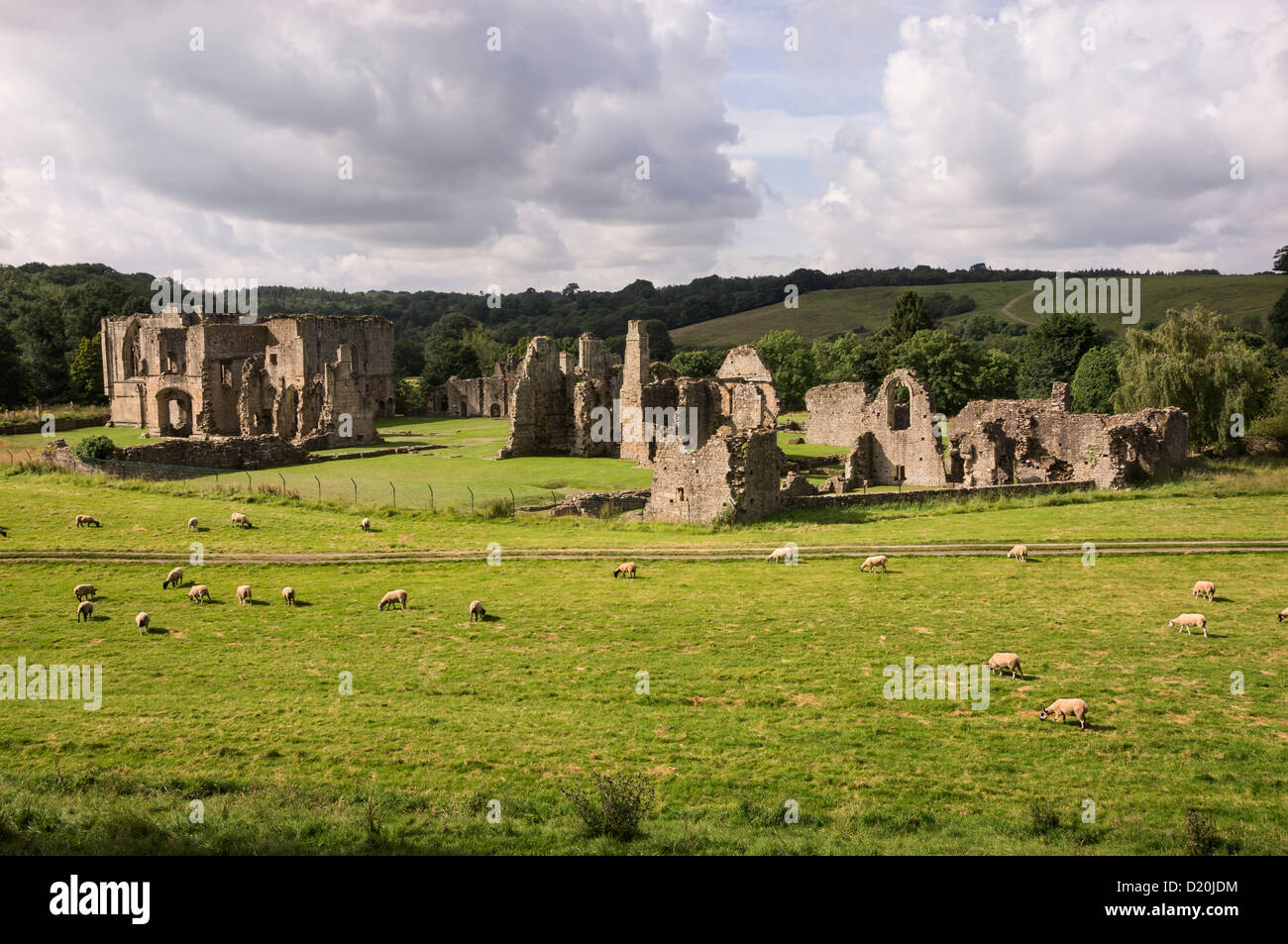 Easby Abbey near Richmond, North Yorkshire Stock Photo