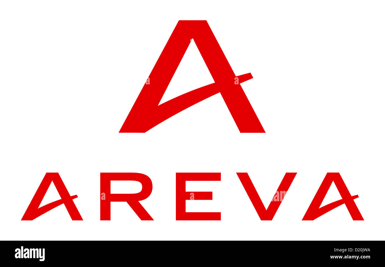 Logo of French nuclear industry company Areva based in Paris. - Stock Image