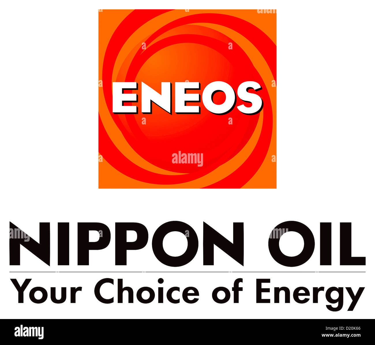 Logo of Japanese petroleum company Nippon Oil Corporation NOC with the trademark ENEOS. Stock Photo