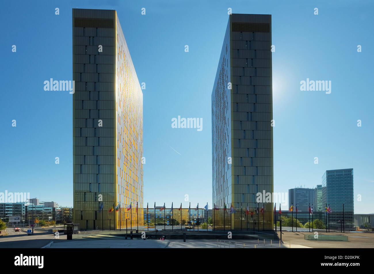 European court of justice at Kirchberg, Luxemburg, Luxembourg, Europe - Stock Image