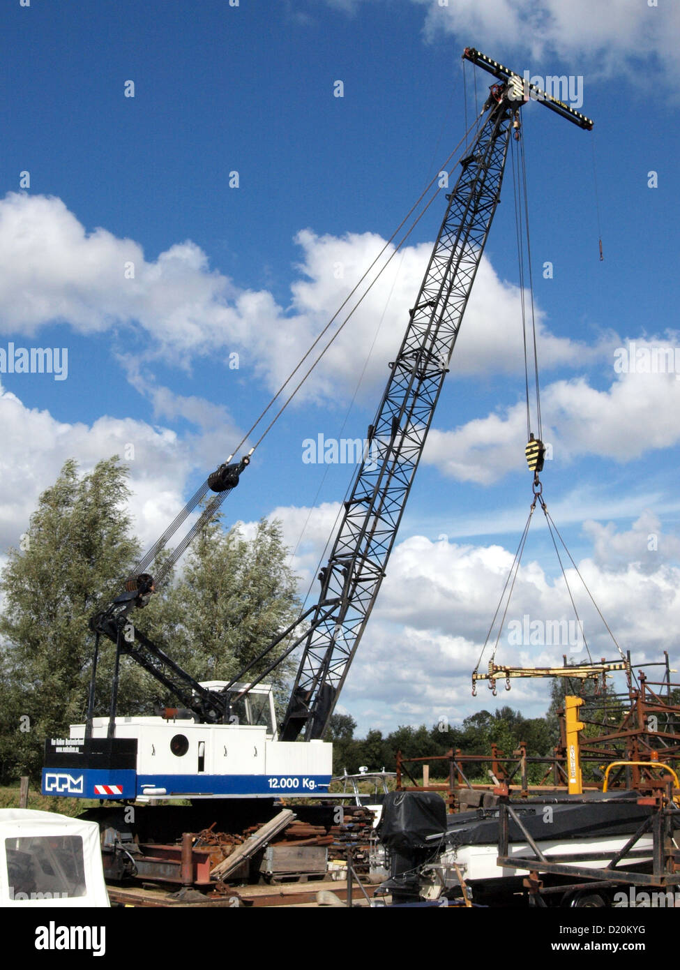 PPM crane removed from its tracks - Stock Image