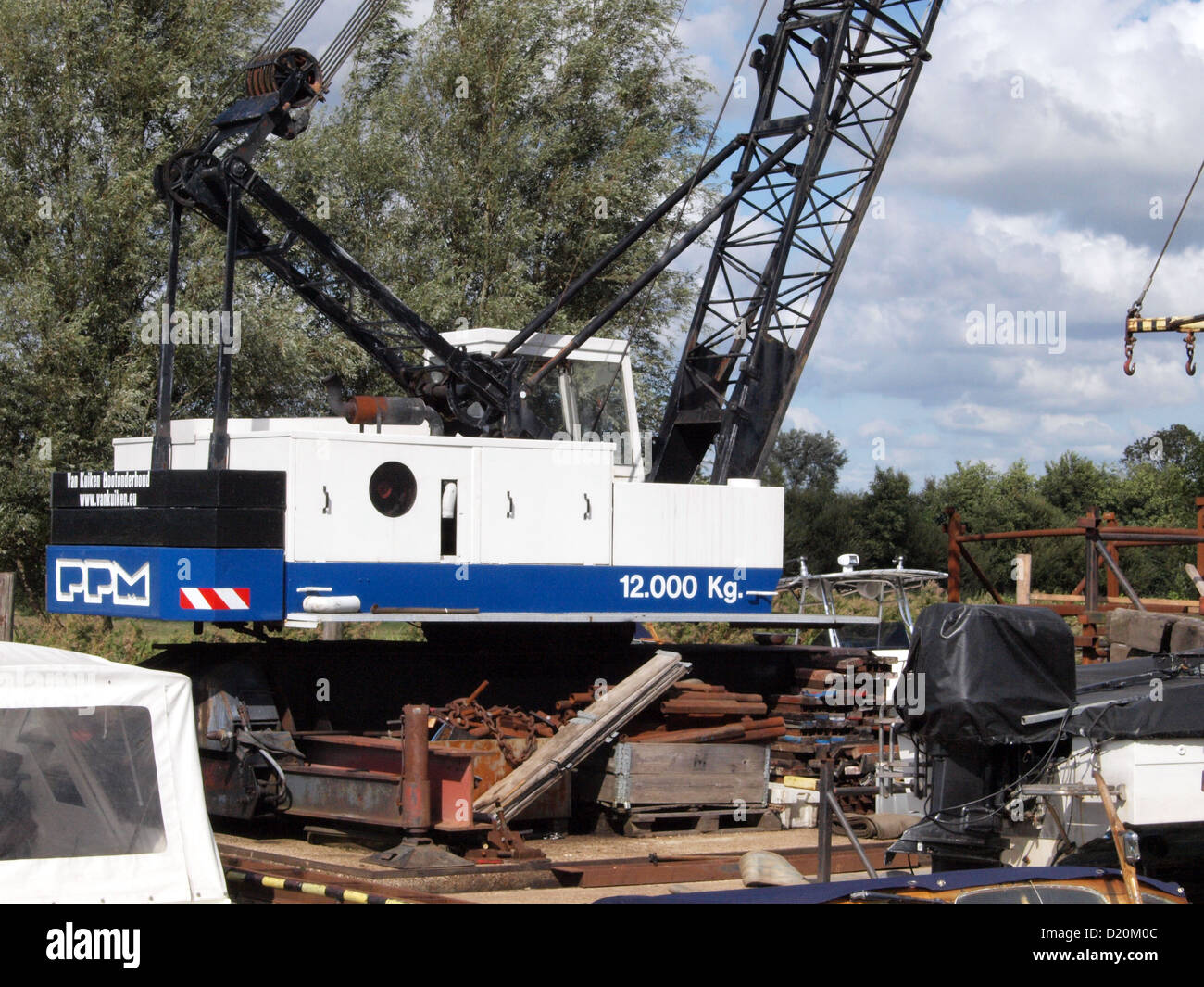 PPM crane removed from its tracks Stock Photo