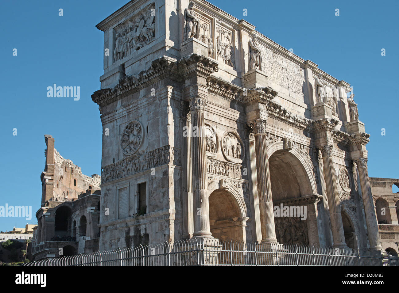 The magnificent Arch of Constantine Rome Italy - Stock Image