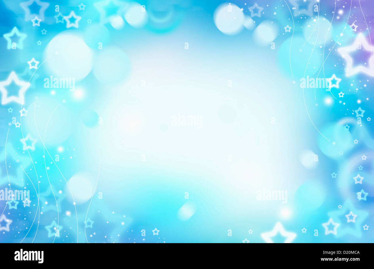 ppt template with stars on a blue and purple background stock photo