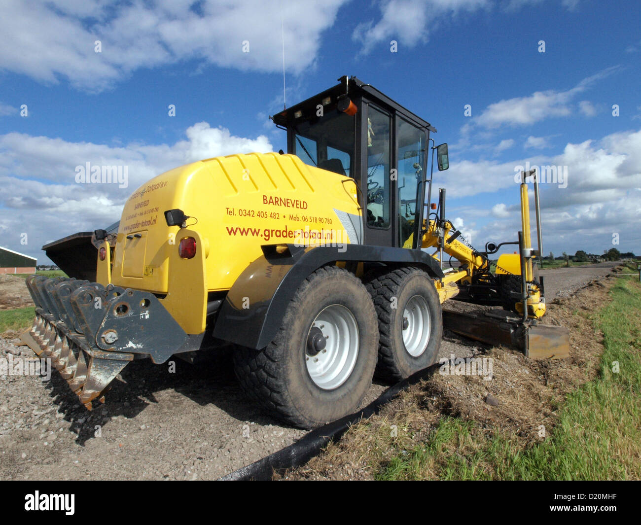 NEW HOLLAND F106.6A Grader - Stock Image