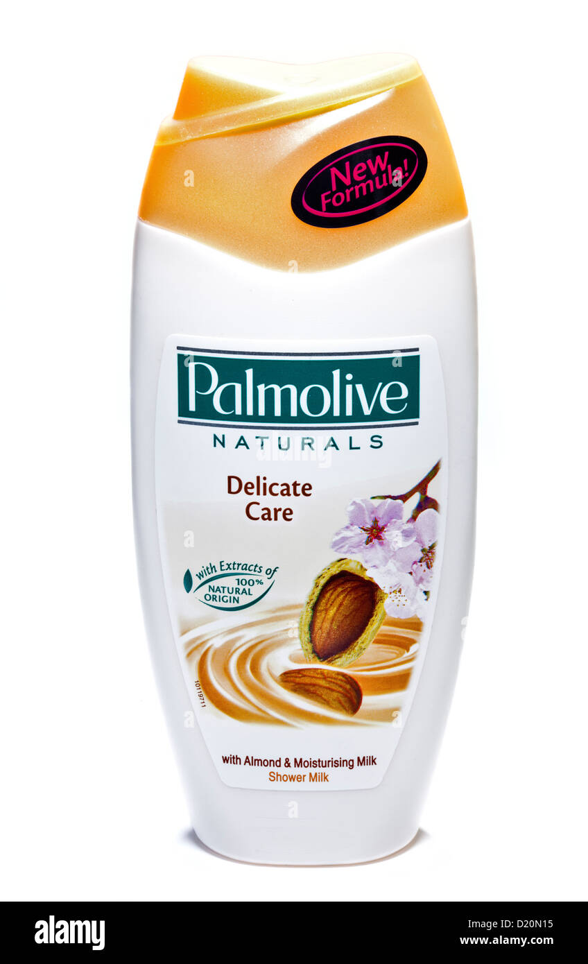 Palmolive Naturals Delicate Care Shower Milk with Almond and Moisturising Milk - Stock Image