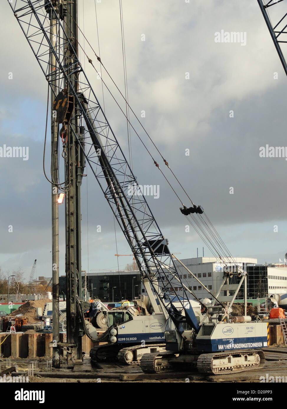 Hitachi Crawler Cranes kh 150 - Stock Image