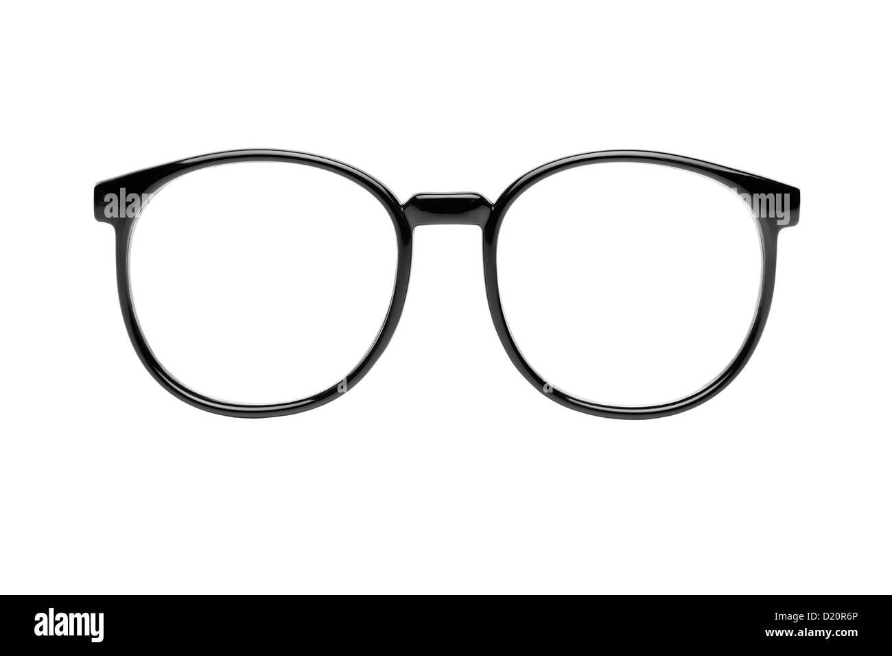 Nerd glasses isolated on white background - Stock Image