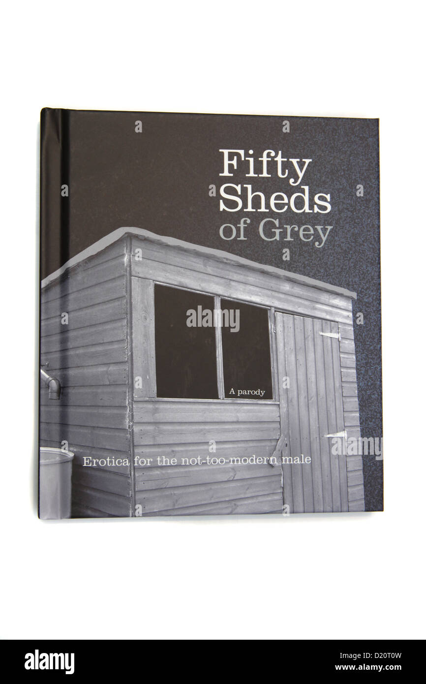Fifty Sheds of Grey. A parody. - Stock Image