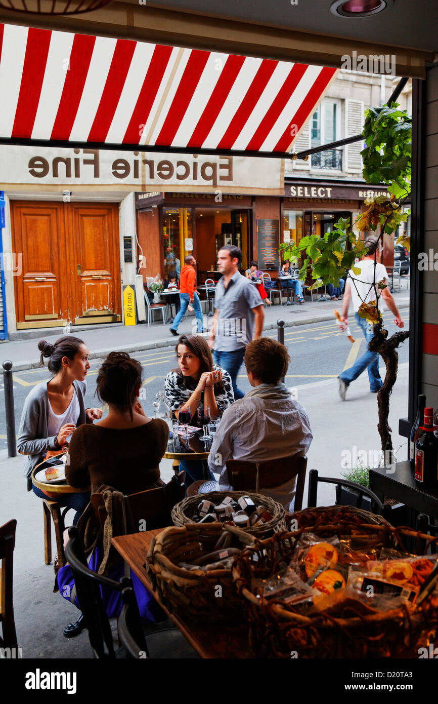 Terra Corsa, a Corsican delikatessen and bistro, Rue des Martyrs, Paris, France, Europe - Stock Image
