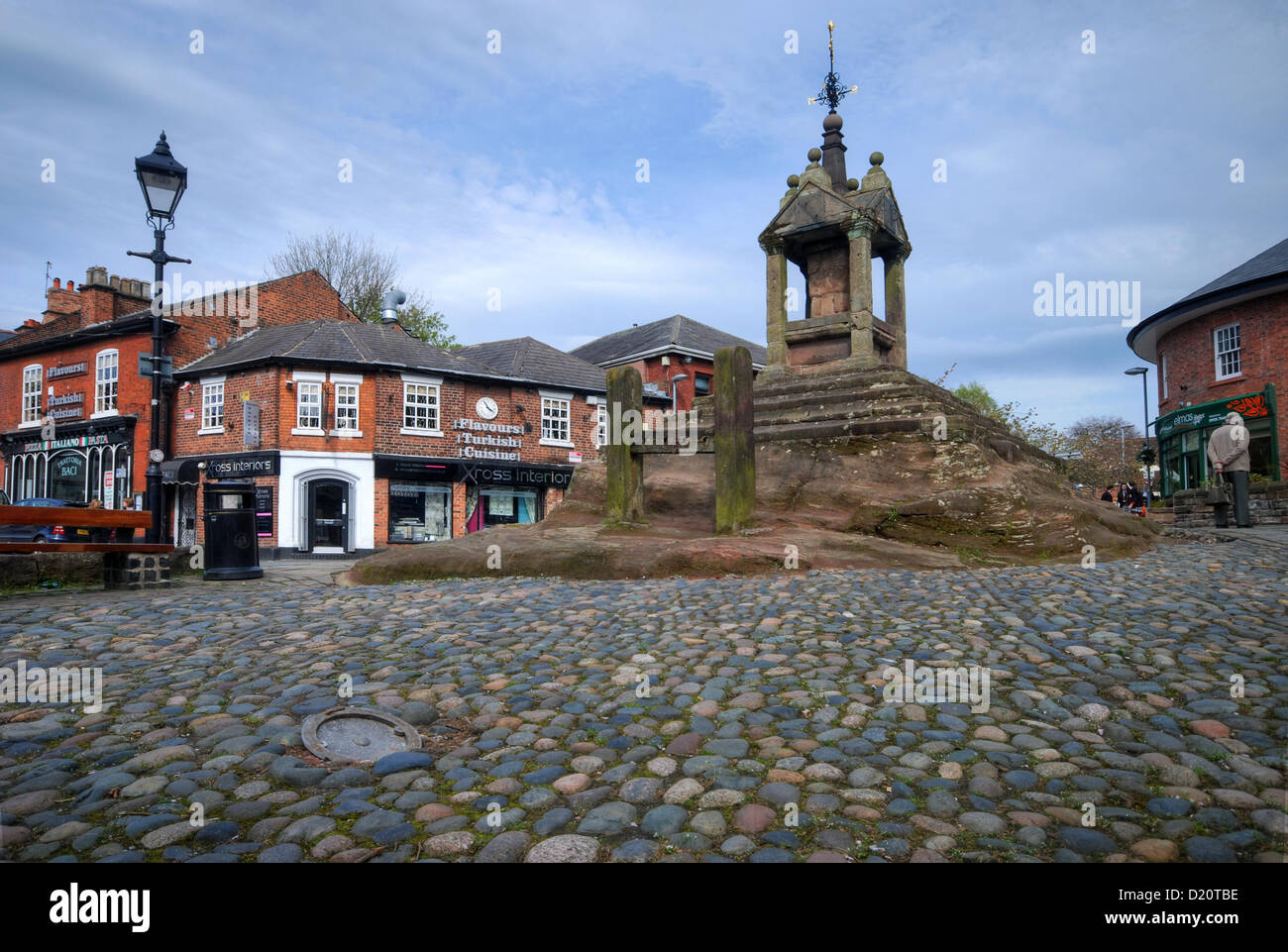 The Market Cross in Lymm, Cheshire - Stock Image