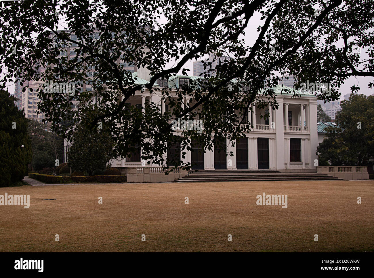 Classical Garden, Luxury House, Changning District,  Shanghai, China Stock Photo