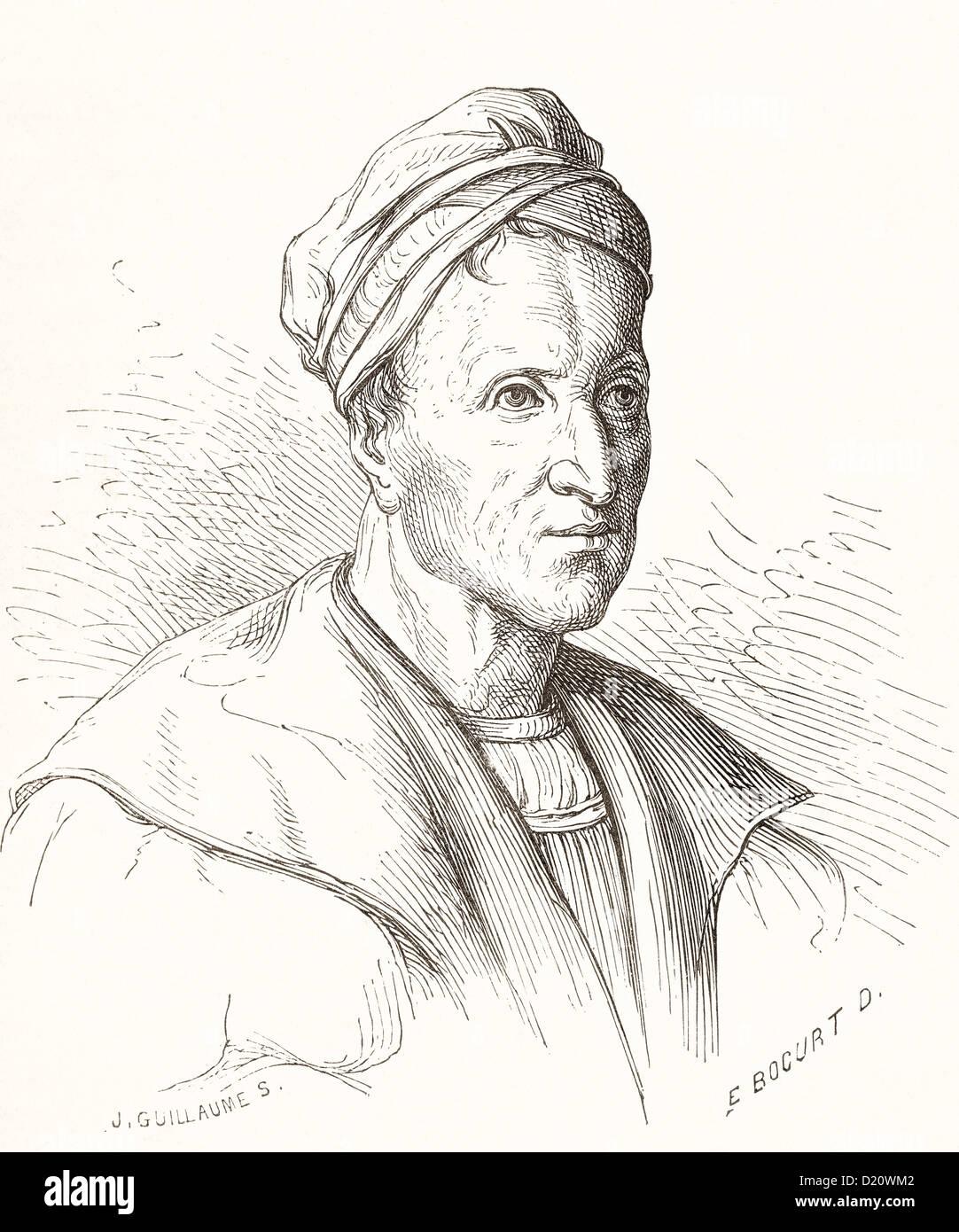 Michael Wolgemut, formerly spelt Wohlgemuth; 1434–1519. German artist, painter and printmaker. - Stock Image