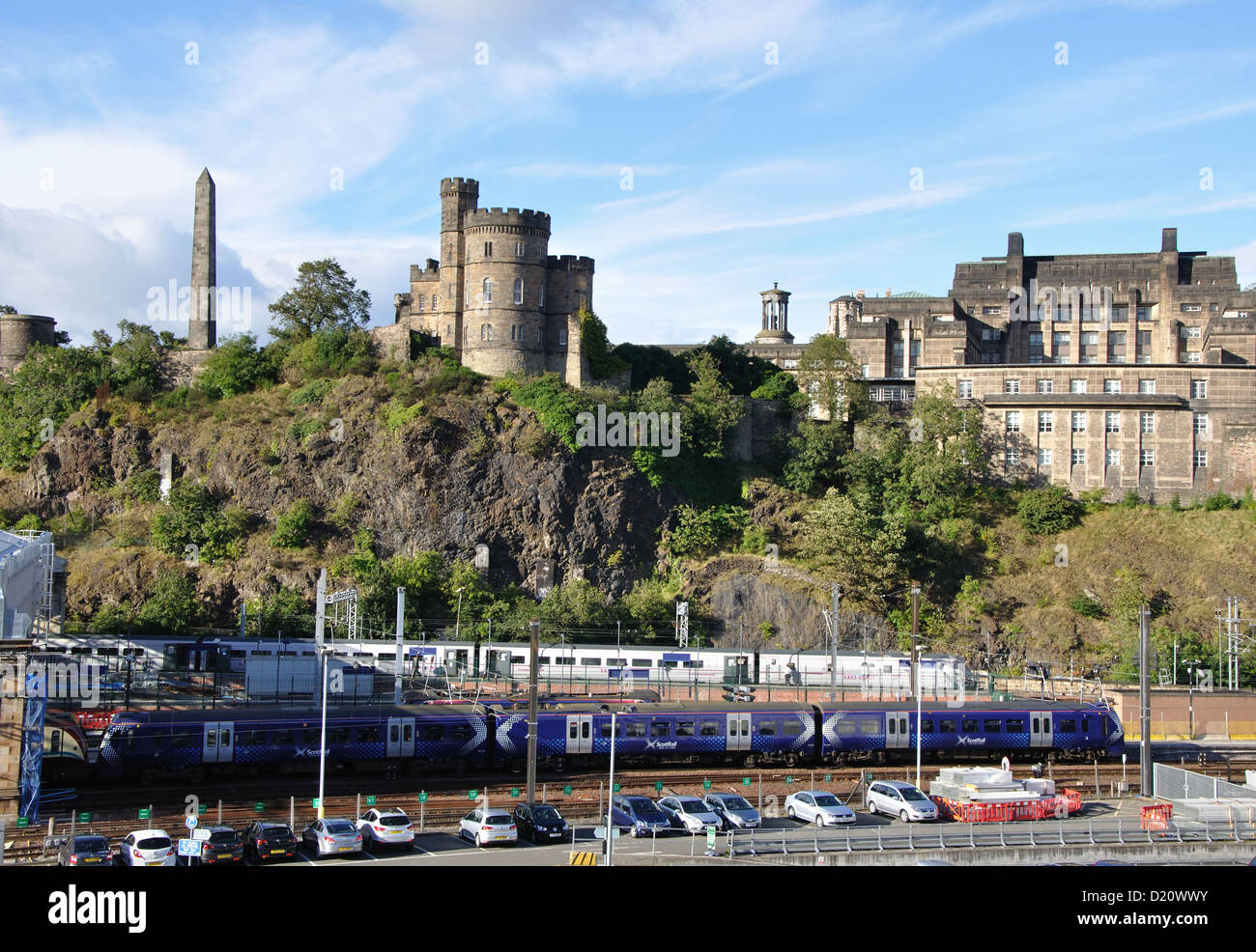 Waverley Station, Edinburgh, West Lothian, Scotland, UK - Stock Image