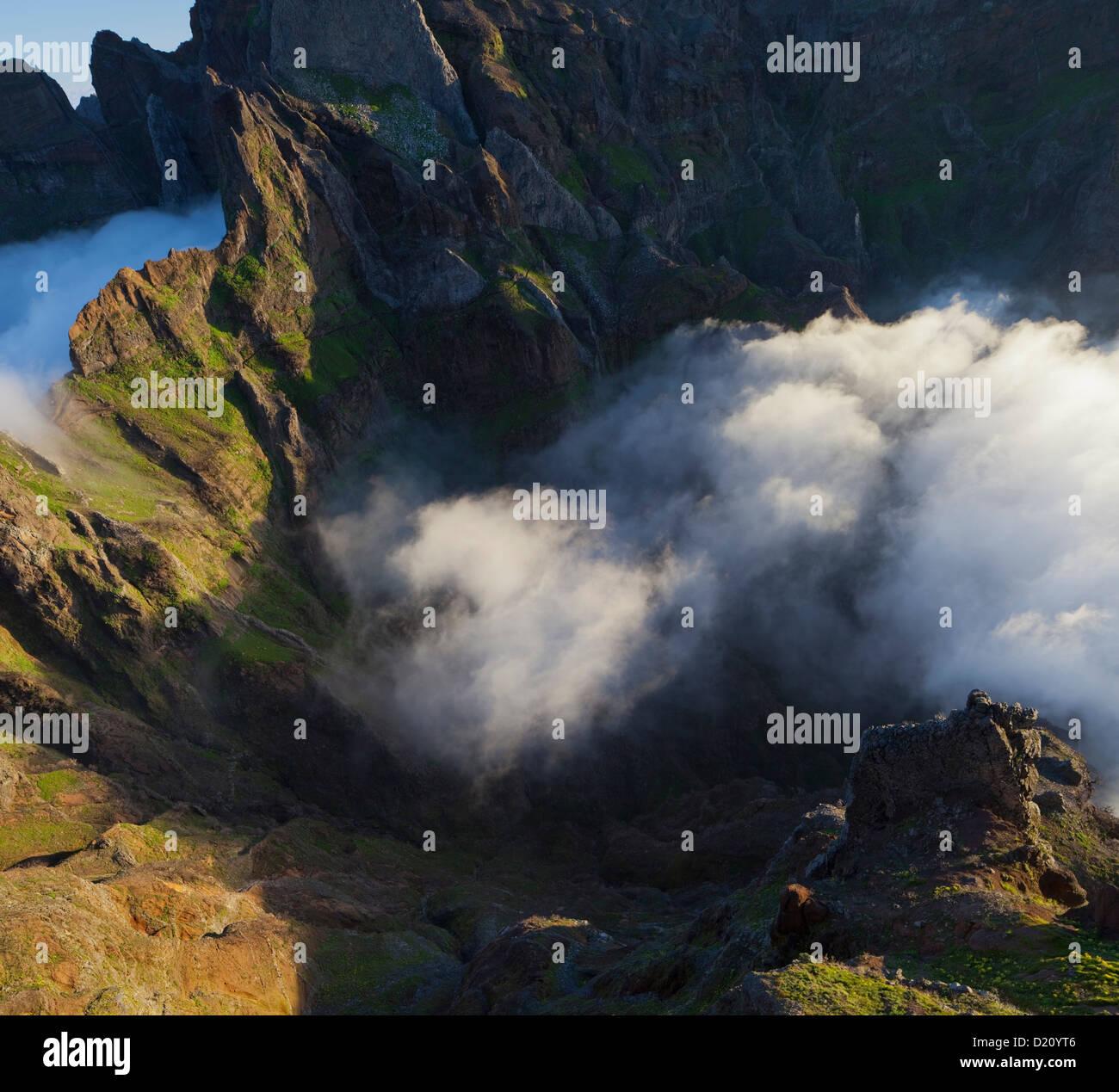 View from Miradouro Ninho da Manta, Pico do Arieiro, Madeira, Portugal Stock Photo