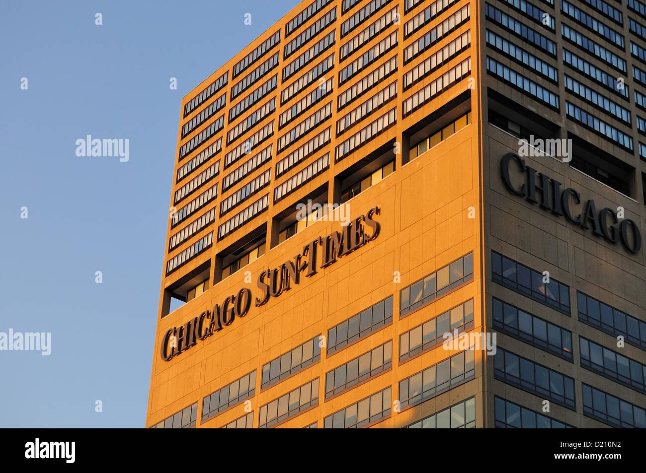 Chicago Sun-Times Building. Chicago, Illinois, USA. - Stock Image