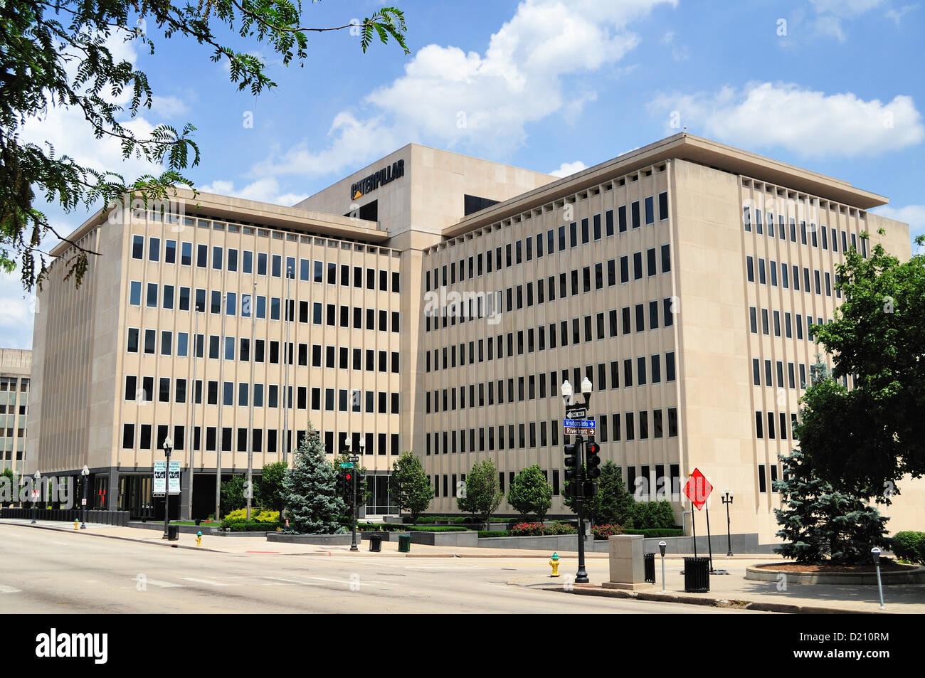 Peoria, Illinois, USA. Corporate headquarters of Peoria-based Caterpillar, Inc. - Stock Image