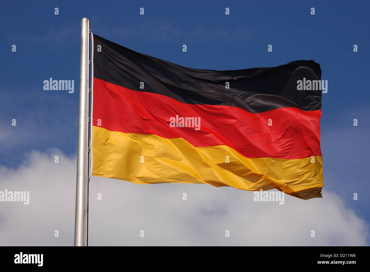 German flag. Berlin. Germany. - Stock Image