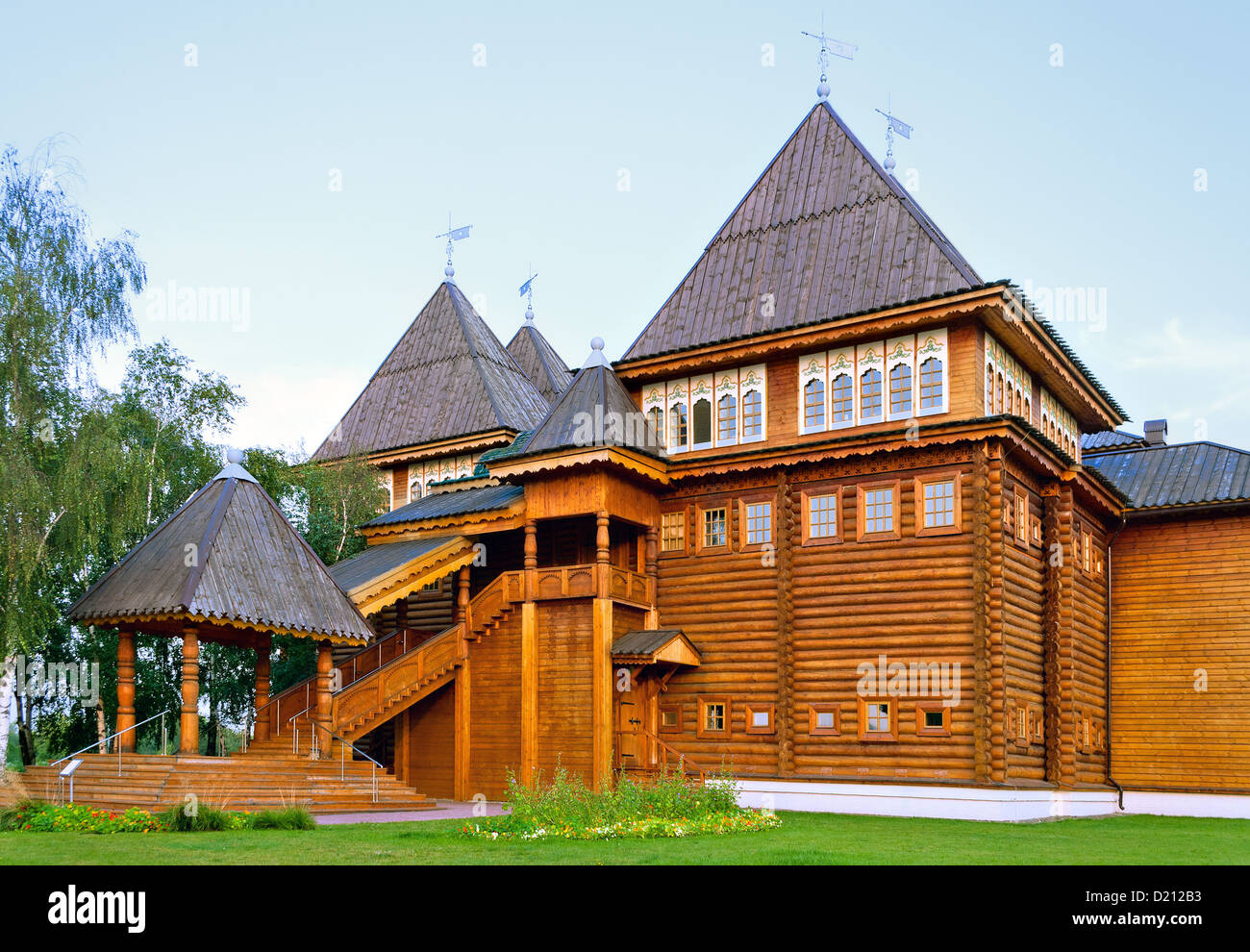 Russian wooden mansion - Stock Image