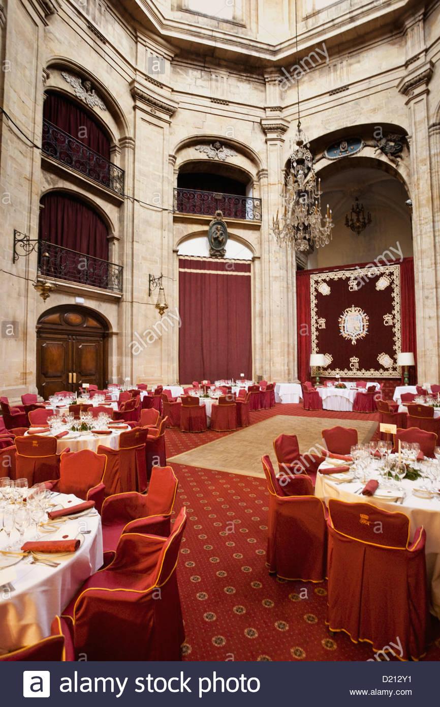 Ballroom in Melia Hotel de La Reconquista, Antiguo Hospicio de Oviedo, Hotel in Oviedo with large patio, Oviedo, - Stock Image