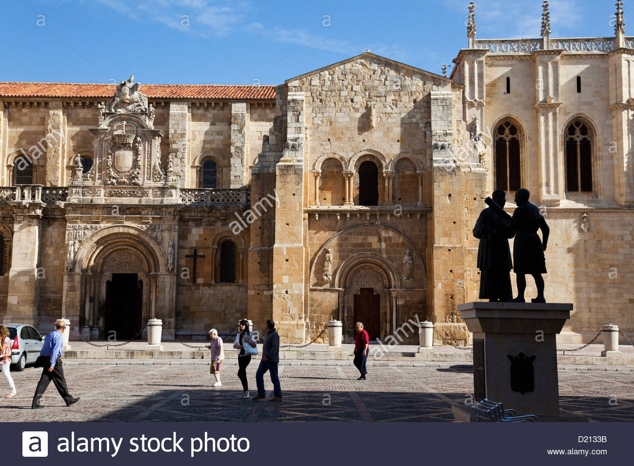 Basilica of San Isidoro in León, Leon, Castile-Leon, Spain - Stock Image