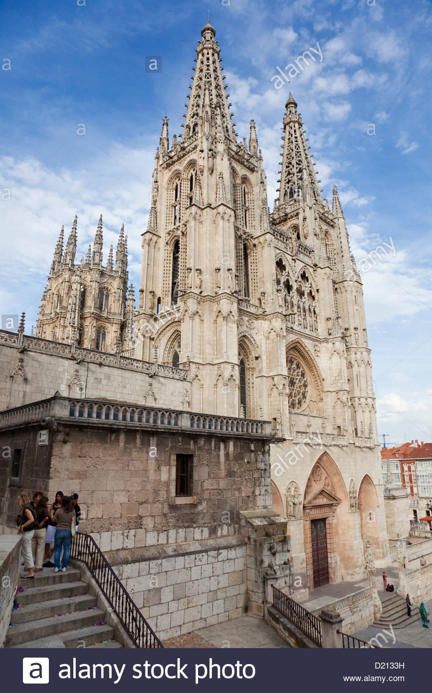 Burgos cathedral, Castile-Leon, Spain - Stock Image
