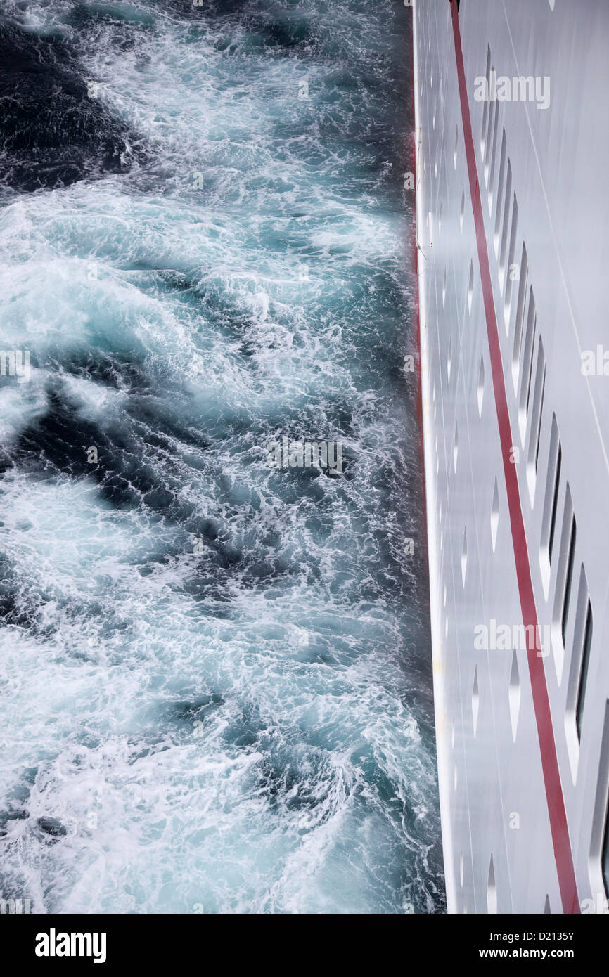 Cruise ship MS Deutschland, Reederei Peter Deilmann in stormy Drake Passage sea, near Cape Horn, Cape Horn National Stock Photo