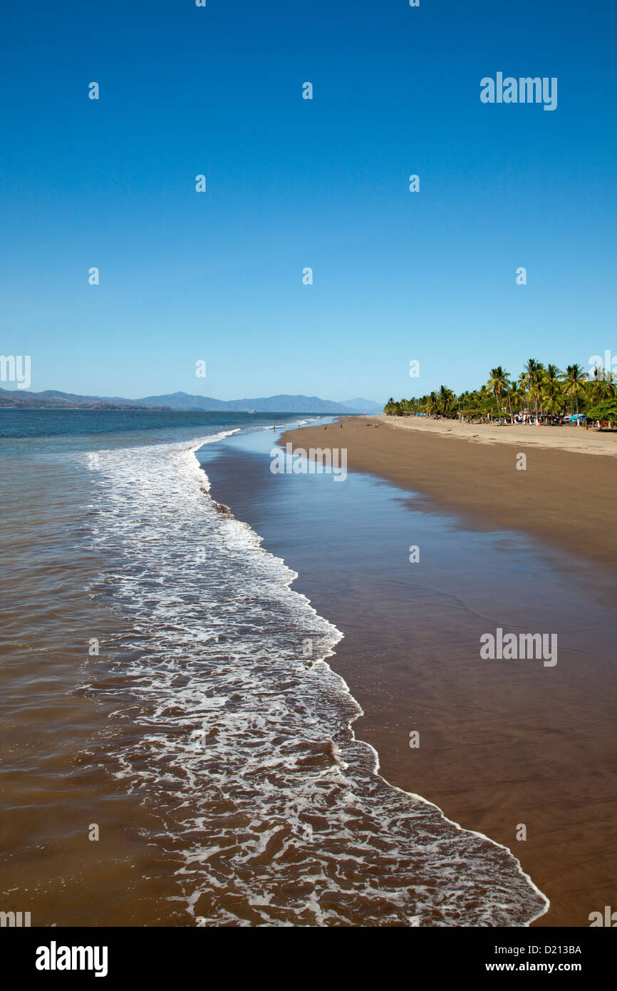 Puntarenas sandy beach, Puntarenas, Costa Rica, Central America - Stock Image