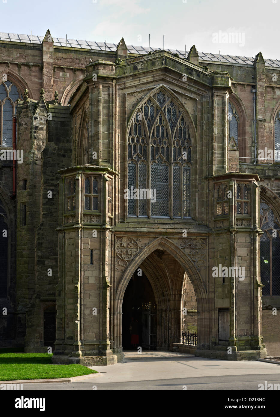 Hereford Cathedral north porch - Stock Image