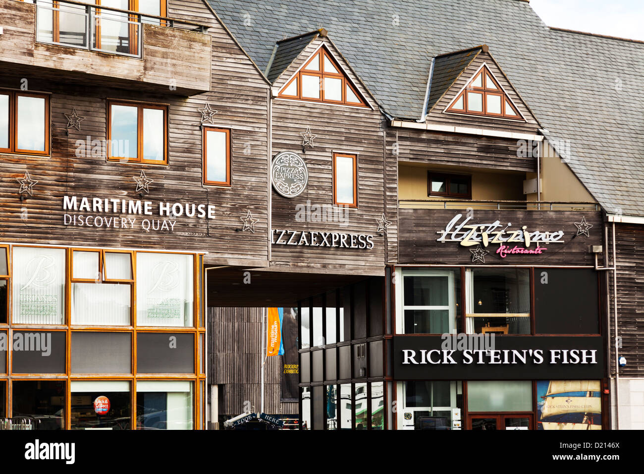 Rick Steins Fish Shop Next To Pizza Express And Maritime