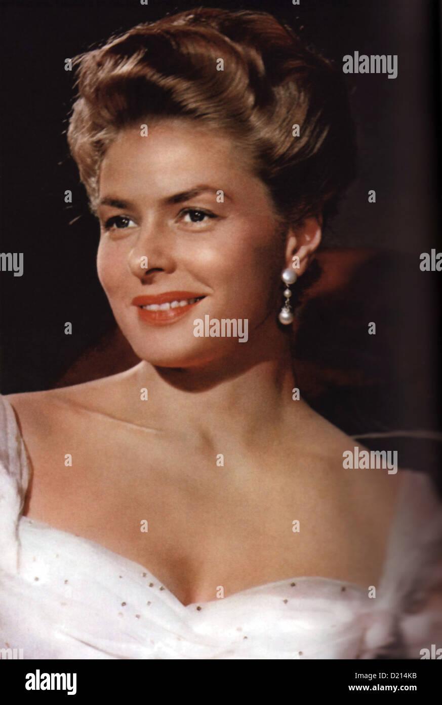 ELENA AND HER MEN (Elena et les hommes) 1956 Warner Bros film with Ingrid Bergman - Stock Image