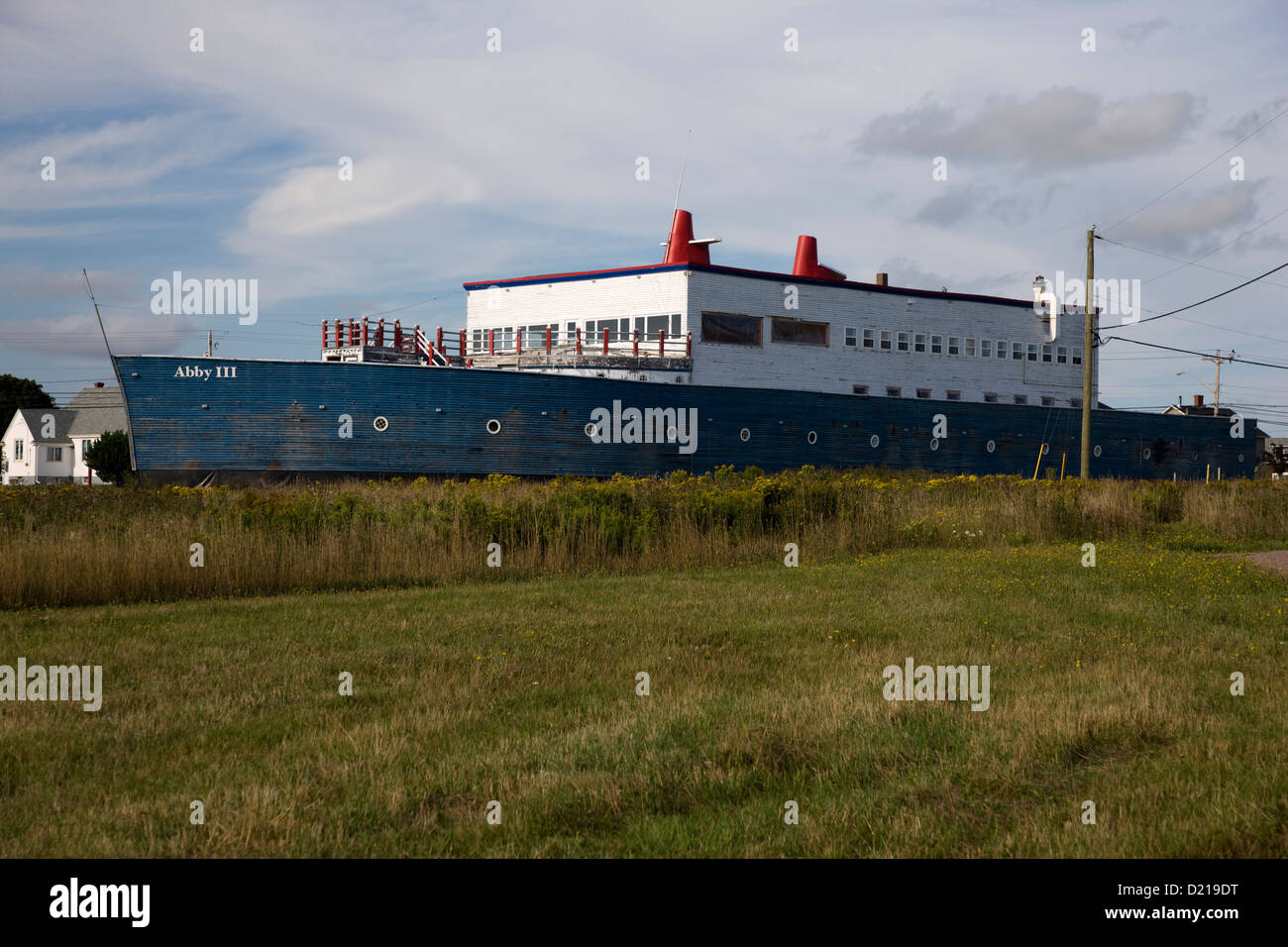 Massive house boat shaped property near the Confederation Bridge, Prince Edward Island Stock Photo