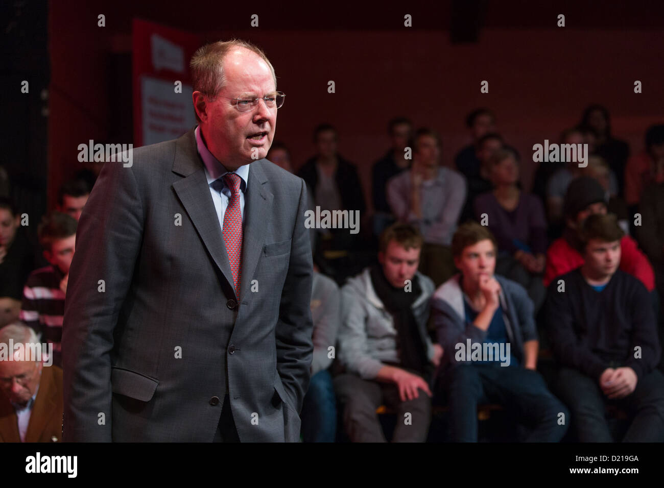 Hamburg, Germany, SPD mayor dialogue with Peer Steinbrueck - Stock Image