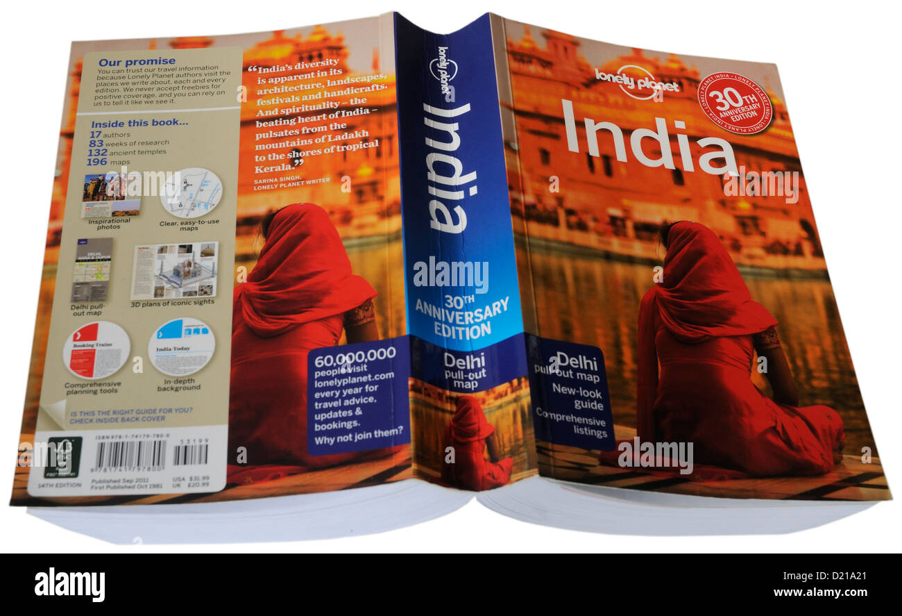 The Lonely Planet guide to India - Stock Image
