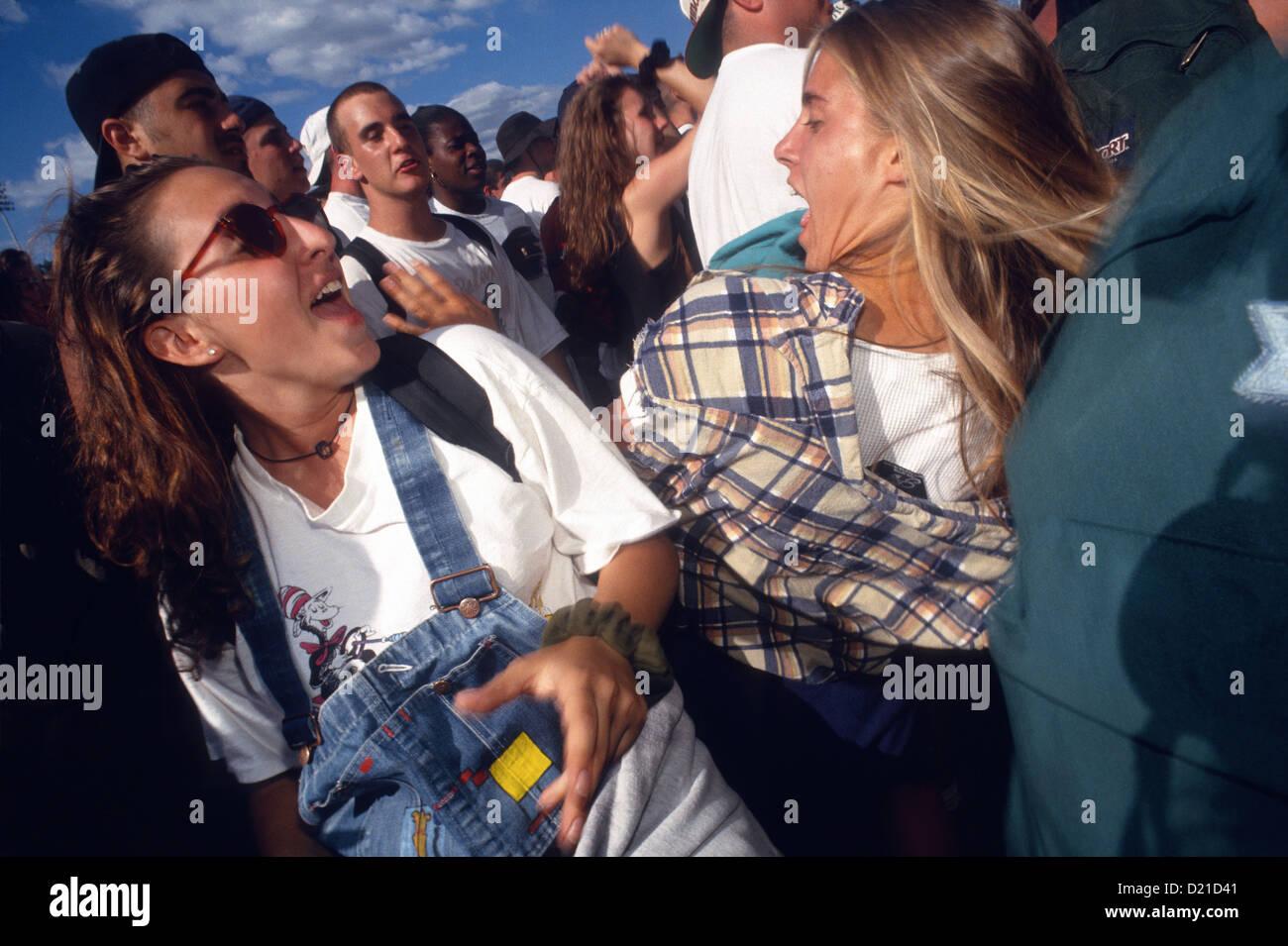 New York, NY - The Mosh Pit at Lollapalooza - Stock Image