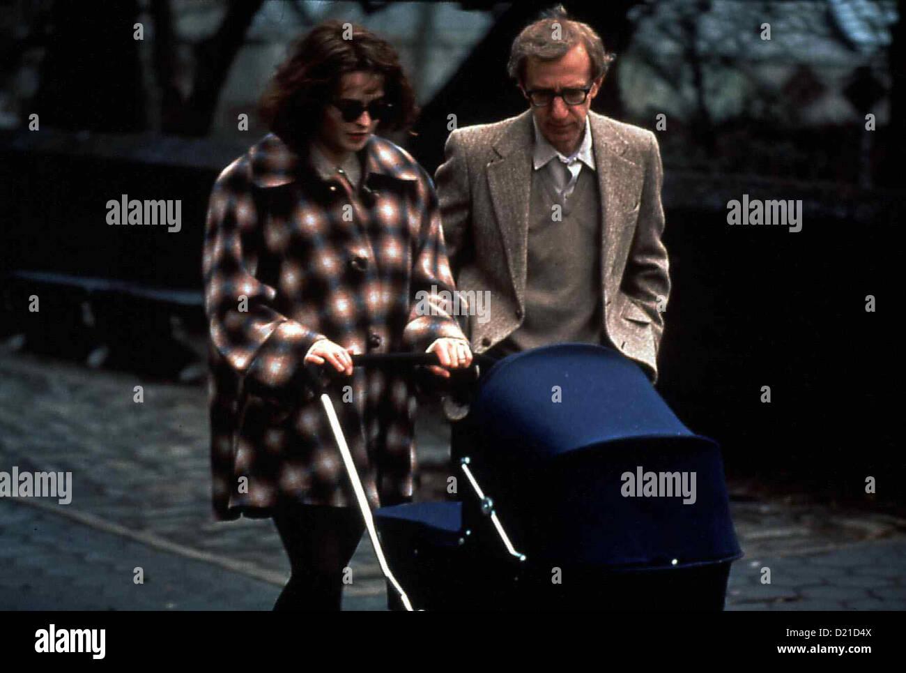 Geliebte Aphrodite  Mighty Aphrodite  Helena Bonham Carter, Woody Allen Amanda (Helena Bonham Carter) und ihr Mann - Stock Image
