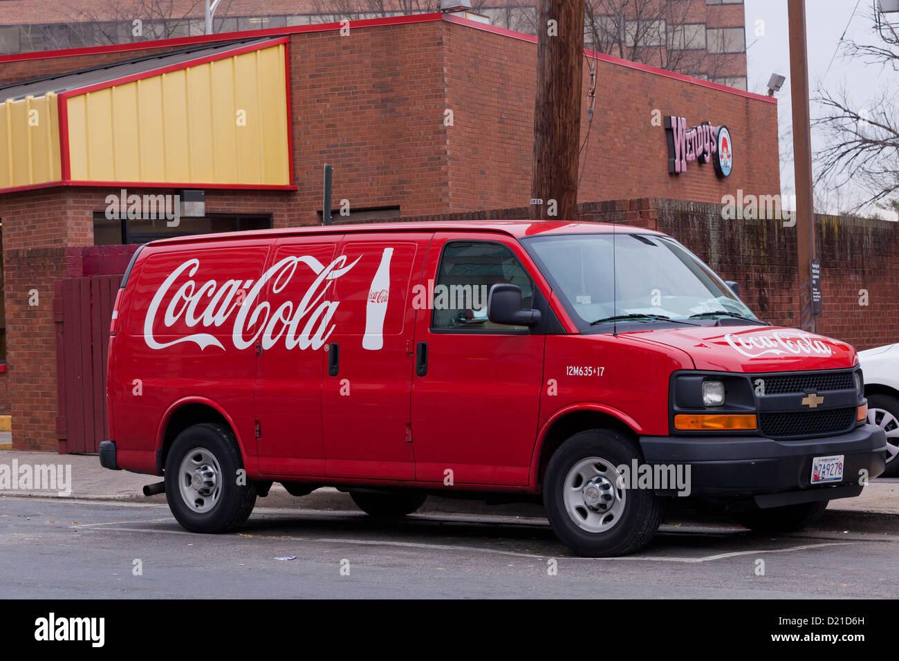 Coca-Cola delivery van - USA - Stock Image