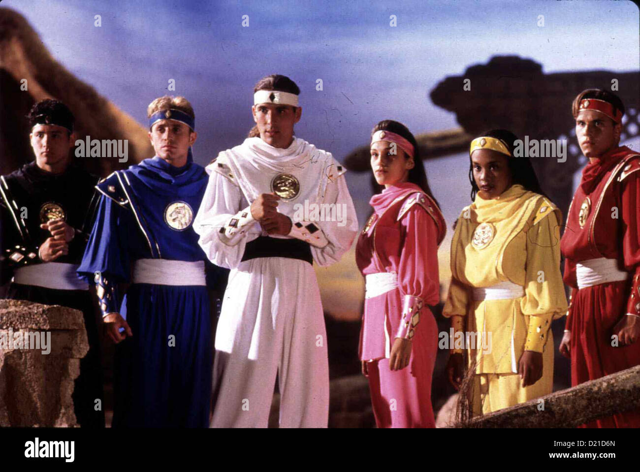 Power Rangers - Der Film  Mighty Morphin Power Rangers - Movie  Johnny Yong Bosch, David Yost, Jason David Frank, Stock Photo