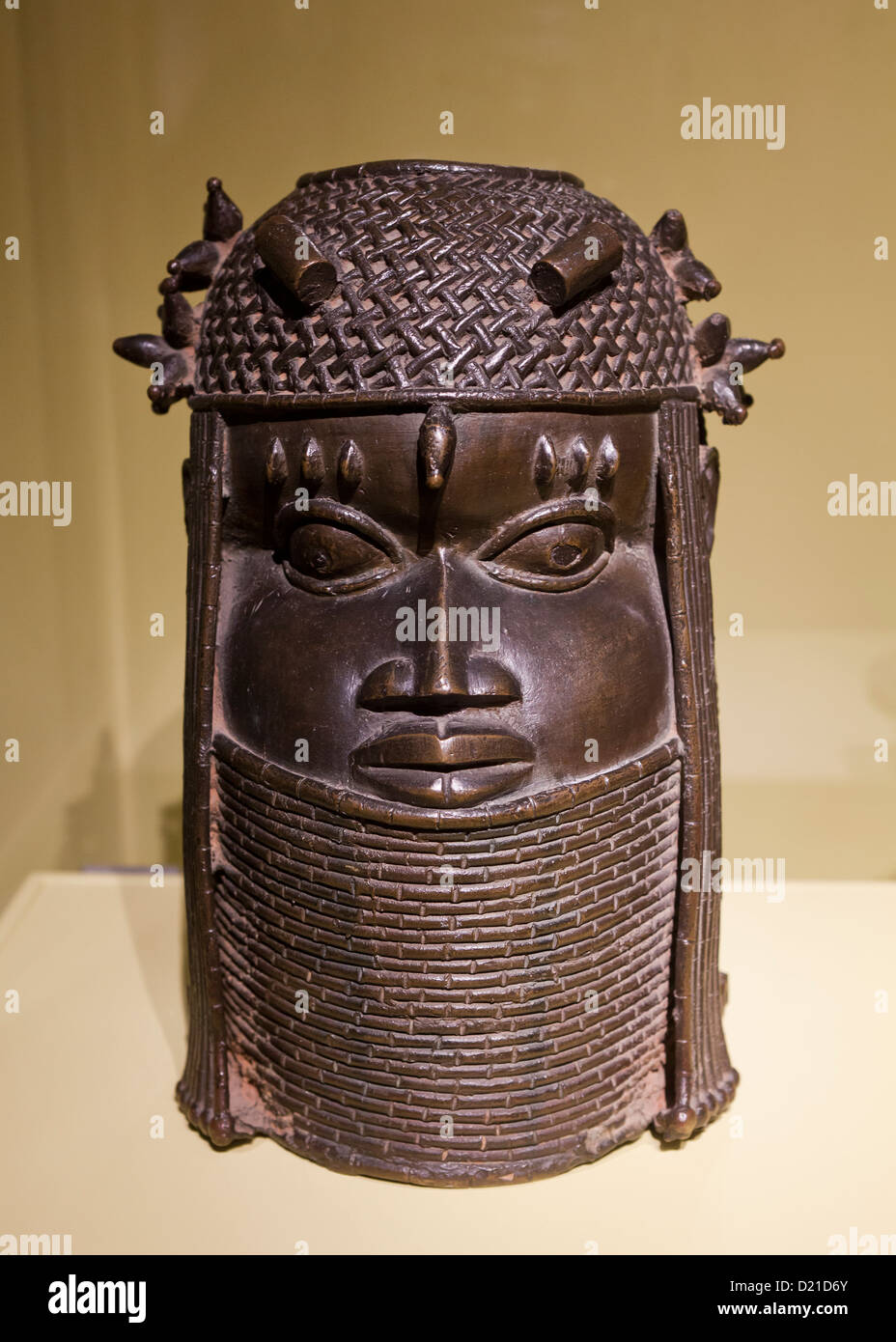 Commemorative Head mask from the Edo Peoples of Nigeria, 18th century - Stock Image