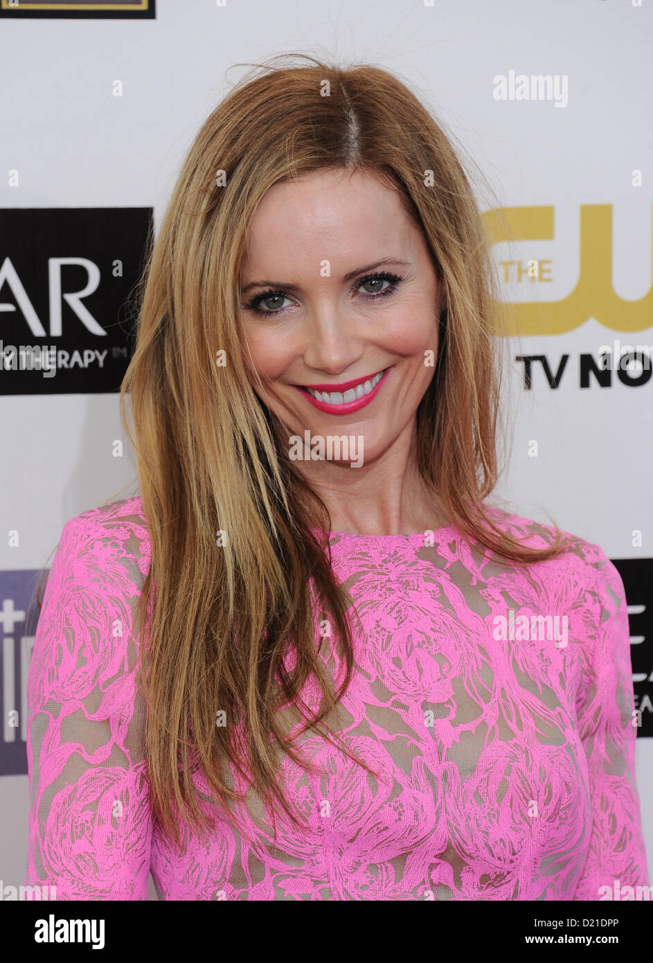 Leslie Mann arrives at the 18th Annual Critics Choice film Awards in Santa Monica, California, USA, on January 10th - Stock Image