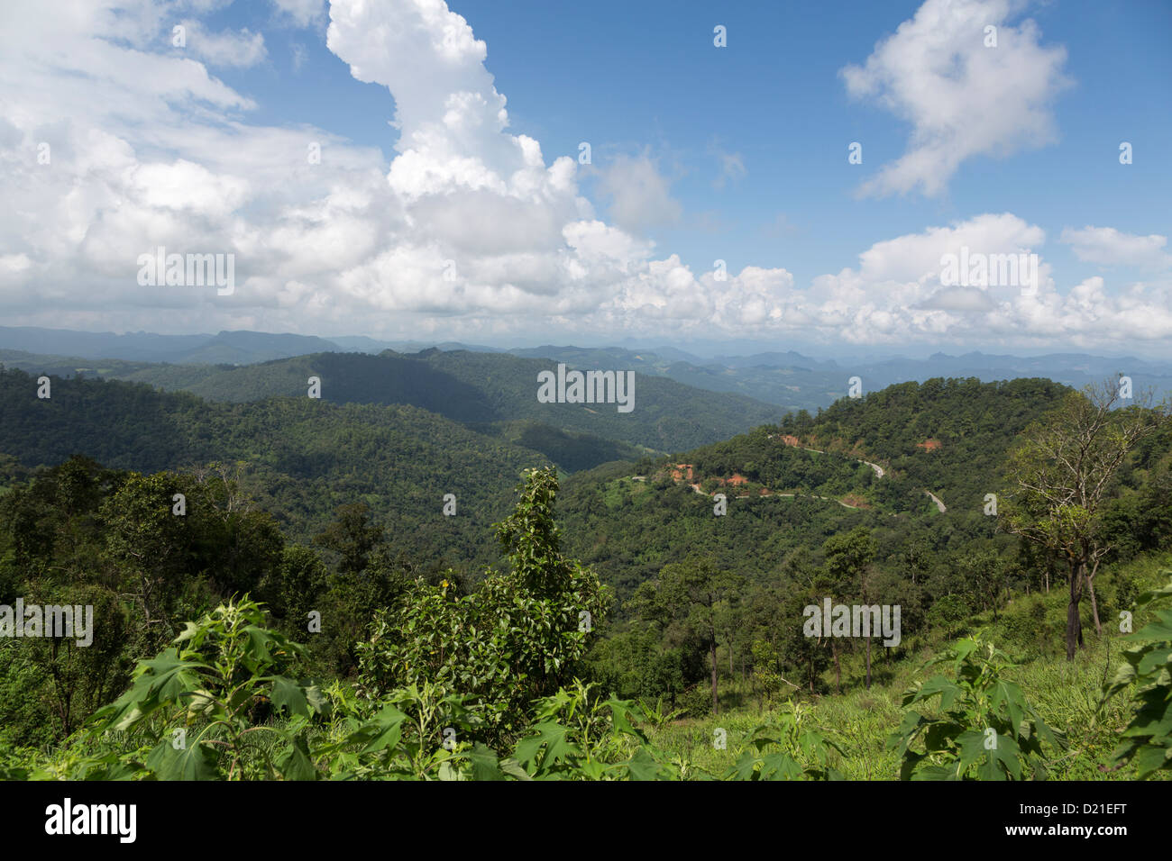 Kiew Lom viewpoint on the road from Pai to Mae Hong Son, Chiang Mai province, north Thailand - Stock Image